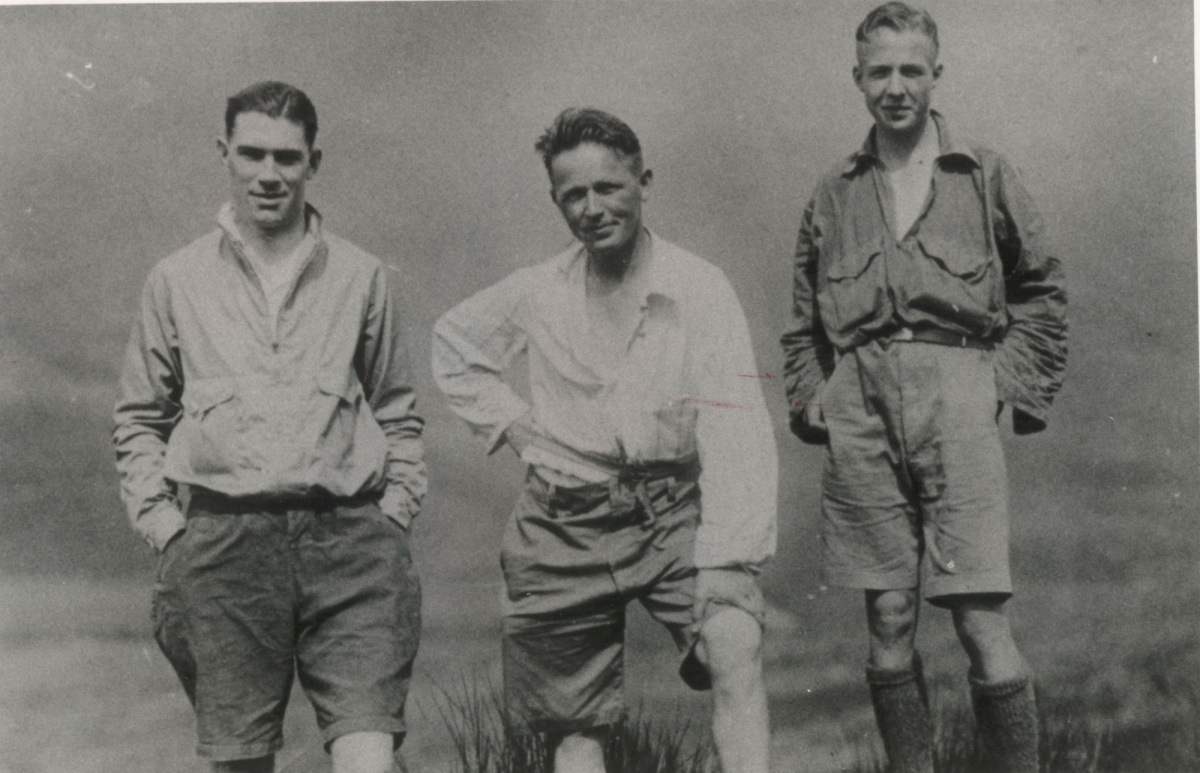 Bob Graham and pacers at Dunmail Raise on his 1932 Round
